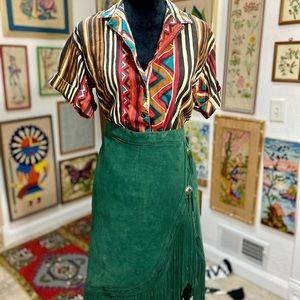 Vintage Tribal Geo Short Sleeve Colorful Fun Shirt